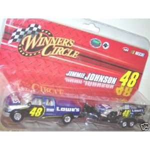 Johnson #48 Lowes Pick Up Truck Trailer With 1/64 Scale Diecast Car