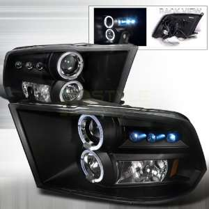 2009 20012 Dodge Ram Halo Led Projector Headlights Black