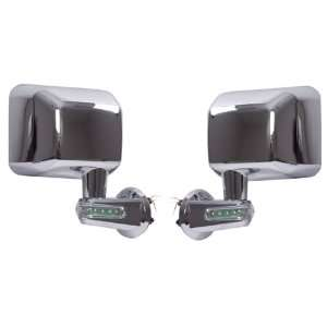 Rugged Ridge 11010.16 Chrome Driver Side View Mirror Kit with LED Turn