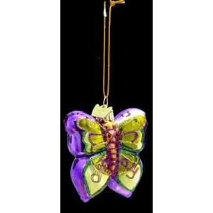 Kurt S. Adler Noble Gems Purple and Yellow Butterfly