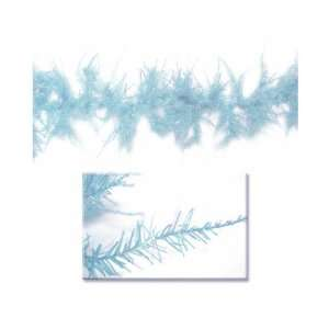Whimsical Sky Blue Laser Christmas Garland 9 x 12