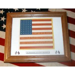 Framed, 35 Star, Civil War American Flag6th Wisconsin Infantry