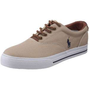 Polo Ralph Lauren Vaughn Mens Khaki Canvas Sneaker Shoe