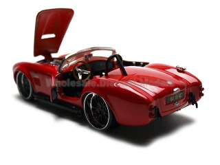 1965 SHELBY COBRA 427 RED 124 DIECAST CAR MODEL