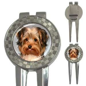 Yorkshire Terrier Puppy Dog 10 Golf 3 in 1 Divot Tool