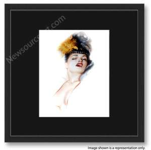 Olivia De Berardinis, Bettie Page Orchid 16x16 FRAMED