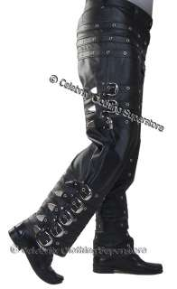 MJ BAD Tour LEATHER Buckle Trousers  Michael Jackson