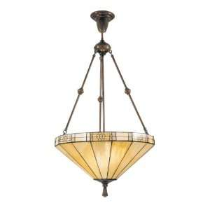 Dale Tiffany 8642/3LTJ Umbrella Filigree Pendant Light, Antique Bronze