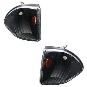 87 88 89 90 91 92 93 FORD MUSTANG CORNER LIGHTS BLACK