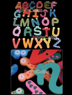 Cute Set 26 Letters Alphabet Wooden Fridge Magnets Big