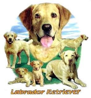 YELLOW LAB LABRADOR RETRIEVER DOG TANK TOP OR T SHIRT 1