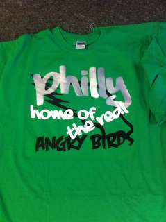 Philly Angry Birds Football Sports Tee Shirt Eagles Size S 3X