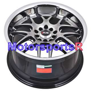 18 x 9 18x9 XXR 526 Chromium Black Rims Wheels Deep Dish Lip 5x120
