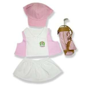 Ladies Golf with Bag Outfit Teddy Bear Clothes Fit 14