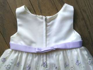 Girls White Dress Cinderella Purple Bolero Sweater Jacket 24 months