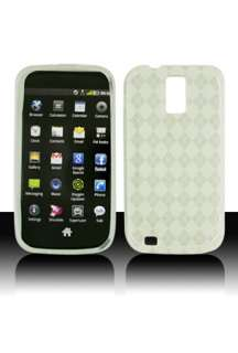 Clear Argyle Checker TPU GEL Case Cover for T Mobile Samsung Galaxy S2