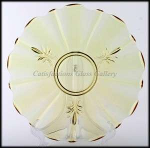 Fostoria Baroque Topaz Yellow Elegant Glass Platter