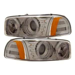 99 06 GMC Sierra Denali Chrome LED Halo Projector Headlights /w Amber