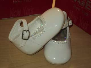Girls White Leather Dress Shoes/Wedding Sz 2 3 4 5 6