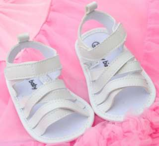 White kids toddler baby girl Mary Jane shoes sandals size 9 12 months