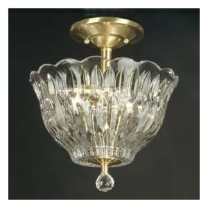 Dale Tiffany Crystal Flush Mount With Three lights in Light Antique