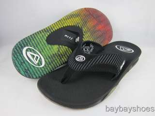 GIRL BLACK/WHITE FLIP FLOP THONG SANDALS MICK MEN ALL SIZES