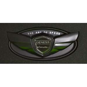 Hyundai Genesis Coupe Wing Emblem in Flat Black Matte Fits 2010 2011