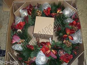 Frontgate Holiday Villa Christmas tree garland Floral DOOR WREATH 36