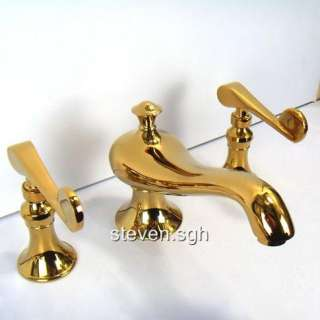 Polished Brass Bathroom Widespread Faucet Tap 6071H