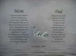 MOM & DAD PERSONALIZED POEM CHRISTMAS GIFT FOR PARENTS