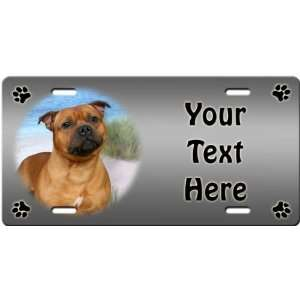 Staffordshire Bull Terrier Personalized License Plate