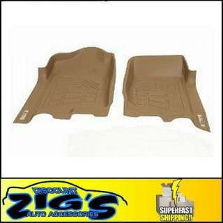 Wade Sure Fit Tan Front Floor Mats Liners for 2002 2008 Dodge Ram 4WD