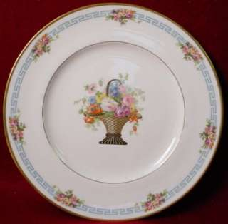 ROYAL CAULDON china BASKET pttrn DINNER SERVICE PLATE