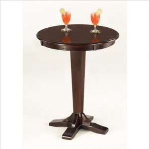 Coffee Colored Round Pub Table