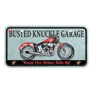 Metal Novelty Car License Plate Busted Knuckle Garage