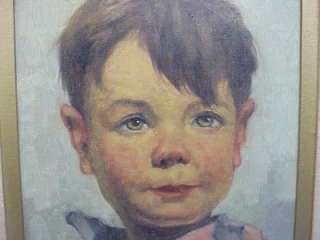 379 LISTED ARTIST sg OKKE BRANDSMA POOR BOY BROTHER OIL PAINTING