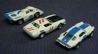 LOT 3 1960 70S AURORA AFX HO SCALE RACE SLOT CARS L@@K