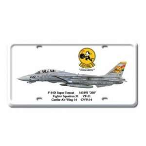 F 14D Super Tomcat Jet Air Force Plane Metal License Plat
