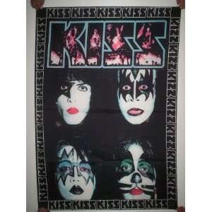 KISS 5x3 Feet Cloth Textile Fabric Poster