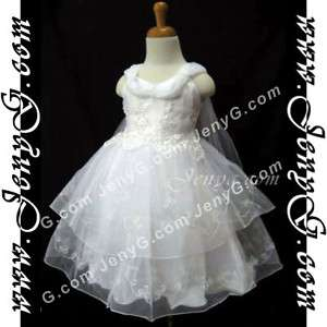 SP3 Flower Girl/Christening Gowns White 0 5 Years