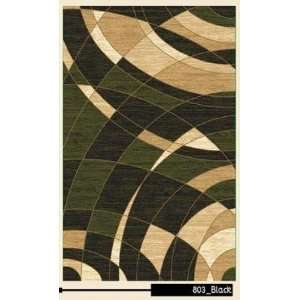 Sapphire Collection Contemporary Black Area Rug A803