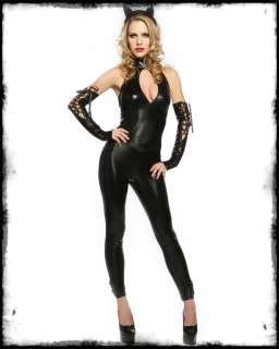 LIP SERVICE BLACK PANTHER CAT SUIT FANCY DRESS COSTUME