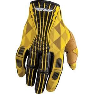 FLY RACING KINETIC MX OFFROAD GLOVES YELLOW 2XL