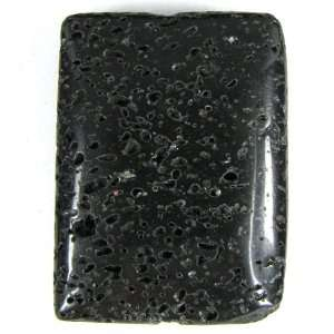 40mm volcano lava rectangle pendant bead