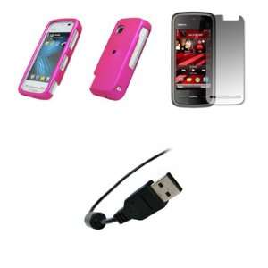 Nokia Nuron 5230   Premium Hot Pink Rubberized Snap On