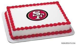 San Francisco 49ers Edible Image Icing Cake Topper