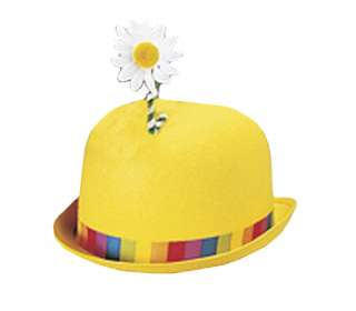 Adult Std. Yellow Clown Derby Hat