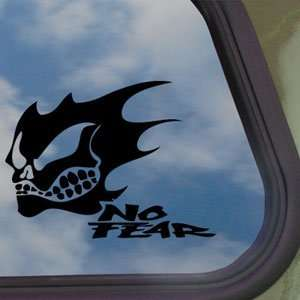 NO FEAR GHOST SKULL LOGO Black Decal Truck Window Sticker