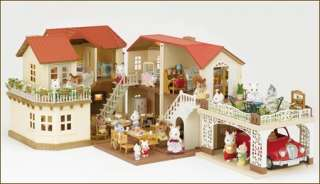 Sylvanian Families Large House with Car Garage (carport) HA 46