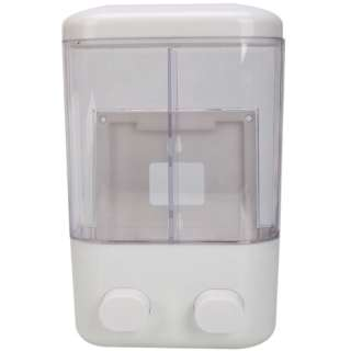NEW Bathroom Wall Mounted Double Shower Soap Lotion Dispenser